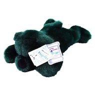 Holiday Green Bear from the Flopsies Collection