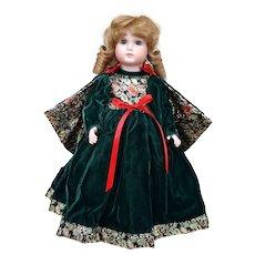 15 inch Sandy Hangland Porcelain Christmas Doll 1985
