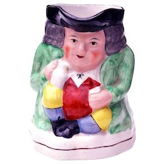 Old Staffordshire Ware Pottery Toby Jug England 1920 -1930s