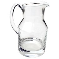 Vintage Thick Pressed Glass Pitcher