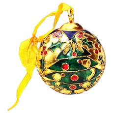 Cloisonne Christmas Tree Ornament