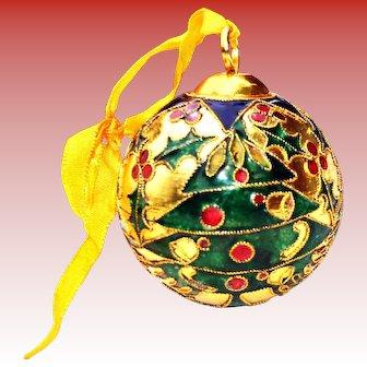 Cloisonne Christmas Tree Ornament