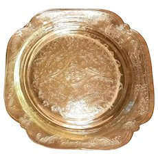 Federal Madrid Amber Depression Glass Luncheon Dessert Plate