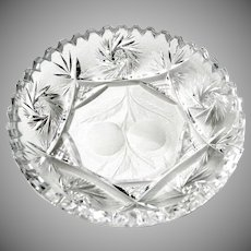 Vintage Clear Cut Glass 6 1/8 inch Dish