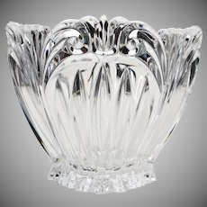 Small Mouth Blown Handcrafted Molded Crystal Vase 1930 - 1950s