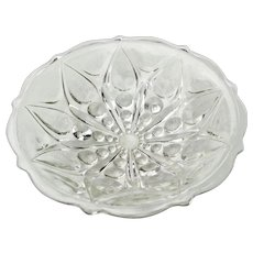 Clear Pressed Glass Shallow Round Bowl Teardrop Dot # 920 by Anchor Hocking