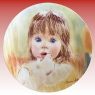 Collector Plate Fascination 1985 by Frances Hook - Edwin M Knowles Fine China
