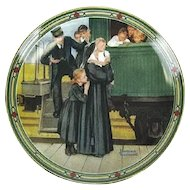 Collector Plate An Orphan's Hope by Norman Rockwell 1987 Knowles Fine China