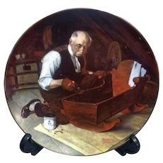 Norman Rockwell Collector Plate Grandpa's Gift by Knowles 1987