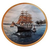 Collector Plate 23K Gold Rim Great Republic Ship by Tom Freeman Hamilton Collection