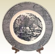 Royal China Currier & Ives The Old Grist Mill Plate