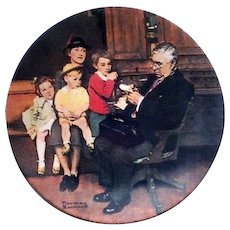 Norman Rockwell Heritage Series Limited Edition The Family Doctor Collector Plate