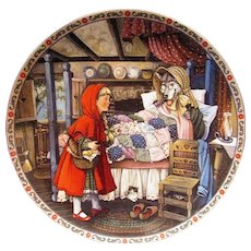 Collector Plate Little Red Riding Hood by Karen Pritchett issued by Knowles 1988