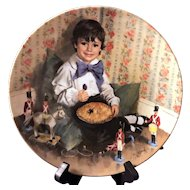 Little Jack Horner Mother Goose Collectors Plate by John McClelland from Reco International