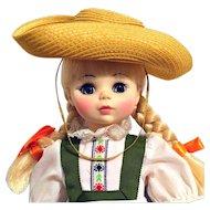 Madame Alexander Doll HEIDI #1580 Circa 1965