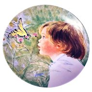 Collector Plate Wonderment by Frances Hook Issued by Edwin M Knowles 1986