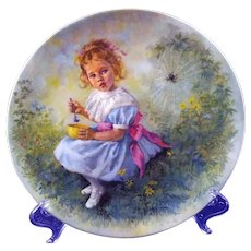 Little Miss Muffet Mother Goose Collectors Plate by John McClelland Reco International 1981