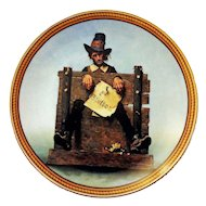 Knowles Collector Plate YE GLUTTON Norman Rockwell's Colonials:The Rarest Rockwells 1988