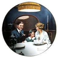 Collector Plate Norman Rockwell THE BIRTHDAY WISH Issued in 1984 by Edwin Knowles