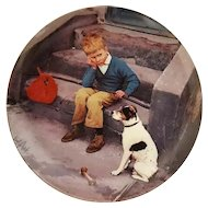 Collector Plate Home is Best Copenhagen Porcelain B & G Moments of Truth