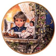 Kaiser Porcelain Germany Collector Plate Au Clair de la Lune