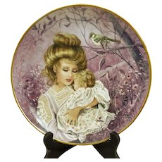 Kaiser Porcelain Germany Collector Plate THE MOCKINGBIRD Classic Lullabies of the World