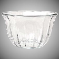 Vintage Clear Thick Pressed Glass 5 inch Paneled Bowl