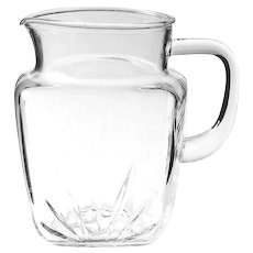 Federal Glass STAR Pitcher – Large Size – Circa 1950s