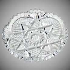 Set of 4 Vintage Cut Pressed Glass Dishes