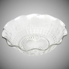Vintage Glass Bowl 6 1/2 inches