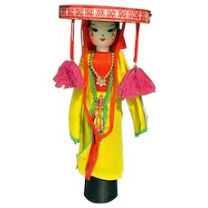 Vietnamese Handcrafted Doll 'Quan ho Bac Ninh'  Ethnic Group Vietnam - Red Tag Sale Item