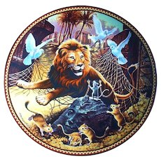 Knowles Collector Plate The Lion and the Mouse Aesop's Fables Series 1989