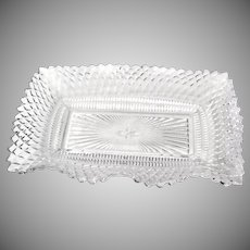 Vintage Celery Relish Dish Federal Clear Pressed Glass Traditions Pattern