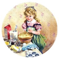 Collector Plate Muffin Making by John McClelland Becky's Day Reco Plate