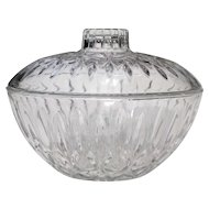 Vintage Glass Bon Bon Dish Multi-Purpose Covered Bowl Circa 1970s
