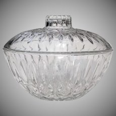 Vintage Glass Bon Bon Dish Multi-Purpose Covered Bowl Circa 1970s