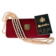 """72"""" Endless Strand of Creamy White Majorica Simulated Pearls"""