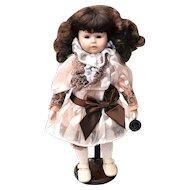 Brinn's Collectible Edition Brown Hair Porcelain Doll