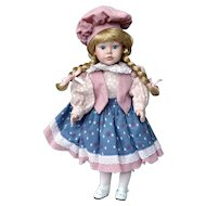Porcelain Doll PAIGE 16 inches from the Hello Dolly Collection 1991