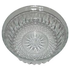 Arcoroc Cristal D'Arques Diamant Pattern Vintage Bowl France 1980s