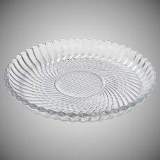 Vintage Libbey Rock Sharpe Pattern 5331 Clear Pressed Glass 7 1/3 inch Plate