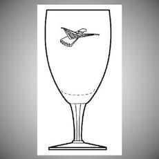 Fostoria T-Bird Wine Glasses Ford Dealer Promo Vintage 1960 Thunderbird Stem #6100