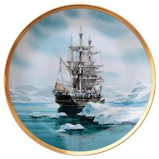 Collector Plate 23K Gold Rim CHARLES W. MORGAN  by Tom Freeman Hamilton Collection 1987