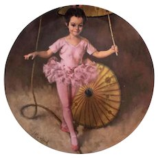 Collector Plate Katie the Tightrope Walker by John McClelland Reco International 1982