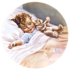 Bessie Pease Gutmann Happy Dreams Collector Plate Magical Moments Series 1987
