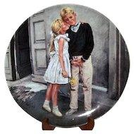 Bing & Grondahl Collector Plate Det Første Sværmeri (First Crush) Kurt Ard 1986