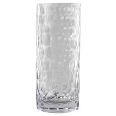 8 Highball Tumbler Long Drink Glasses Clear Honeycomb Pattern