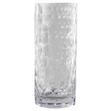 8 Highball Tumbler Long Drink Glasses Clear Honeycomb Pattern