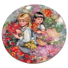 Wedgwood Collector Plate OUR GARDEN by Mary Vickers1983 Limited Edition