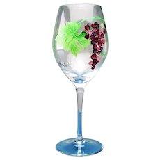 4 Handcrafted Hand Painted Lead-free Crystal Merlot Wine Glasses Dionysus Pattern